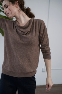 SE18103 Draped Neck Sweater
