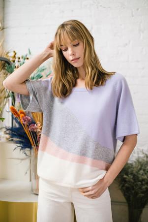 sweater SG18111 lavender combo