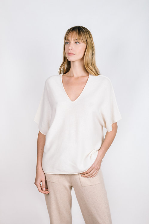 Split Neck Easy Tee