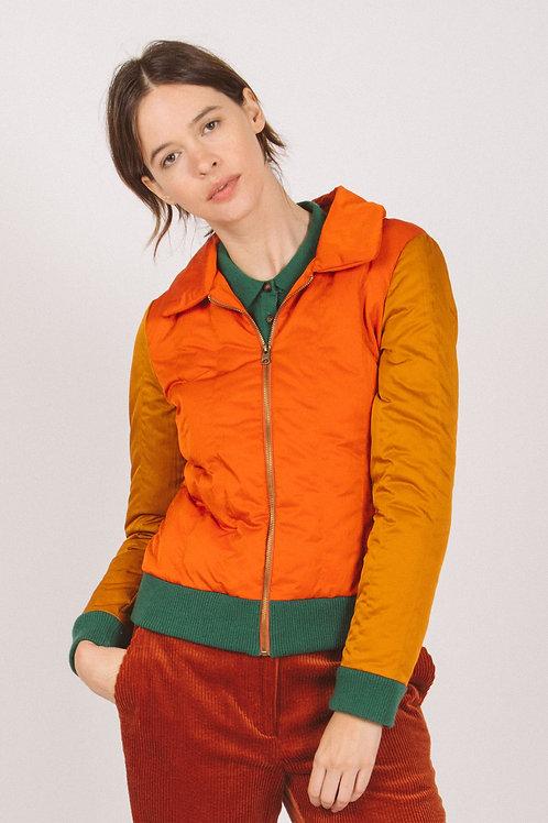 Padded colorblock track jacket