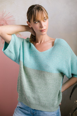 sweater SG17125 in fern combo
