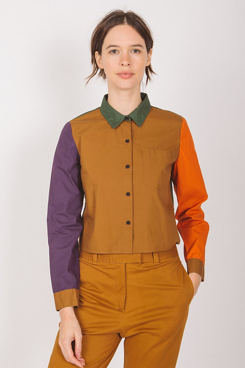 Colorblock crop shirt
