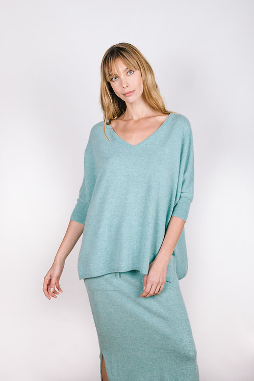 Half Sleeve Relaxed Sweater