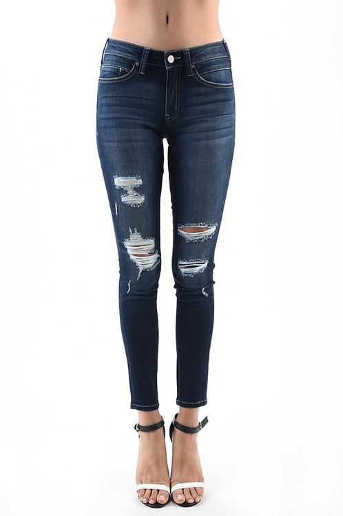 Distressed Dark Kan Can Jean
