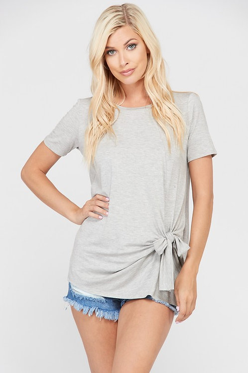 Short Sleeve w/ Knotted Detail Top