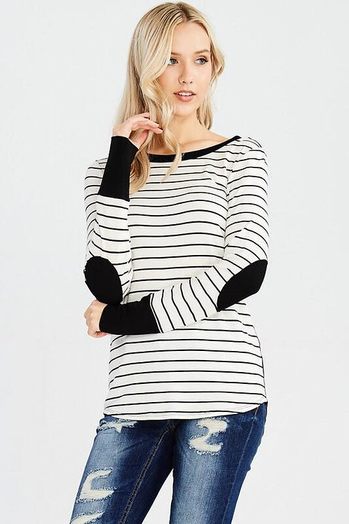Long Sleeve Shirt with Elbow Patches