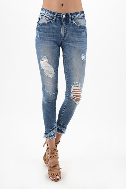 Kan Can Frayed Bottom Jean