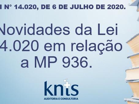 NOVIDADES DA LEI 14.020 EM RELAÇÃO A MP 936