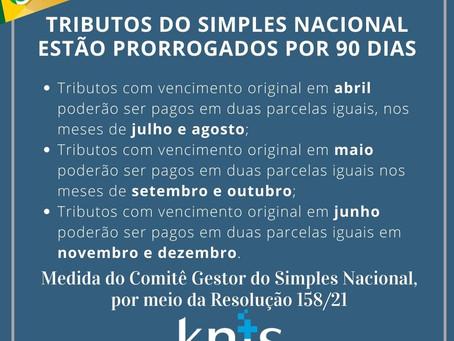 PRORROGAÇÃO DO SIMPLES NACIONAL - 2021
