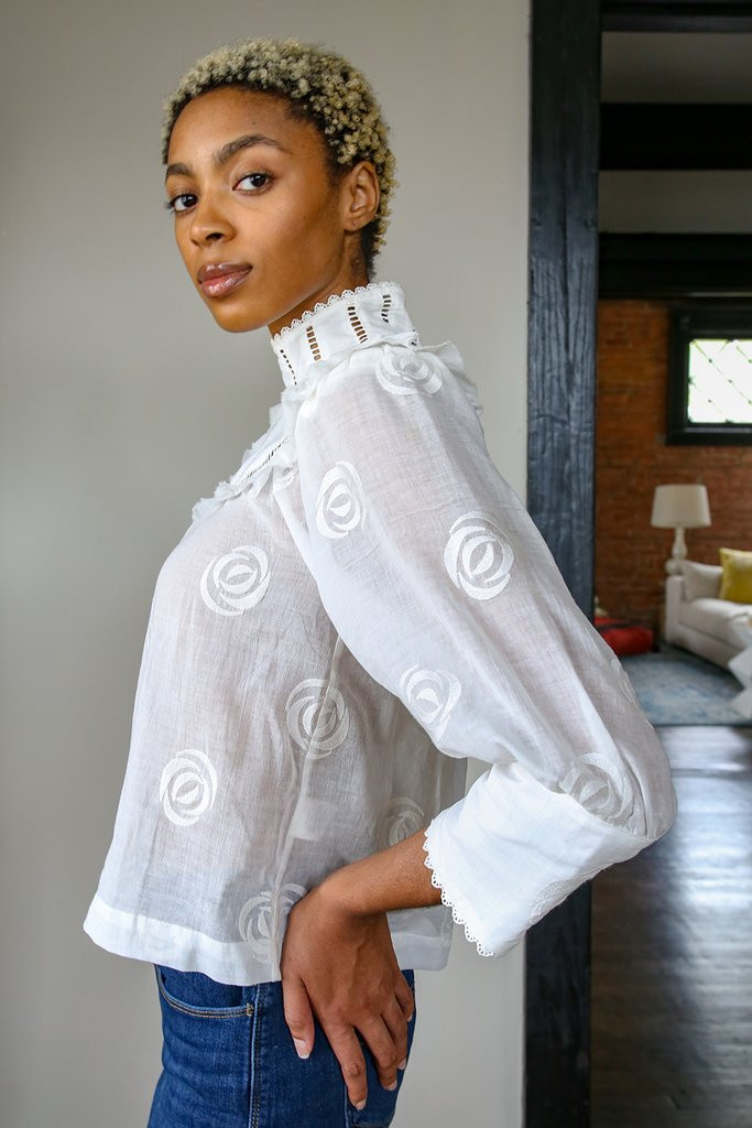 Ivory Victorian Blouse
