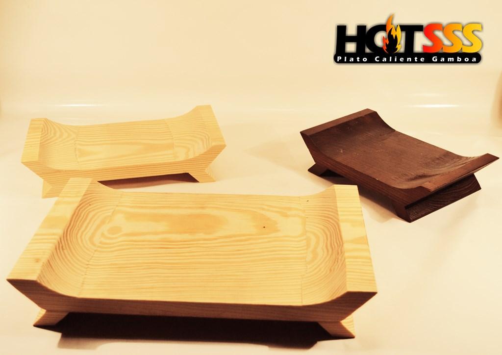Platos de fierro vaciado con madera gamboa y deshebradoras de carne monster (122) (Copiar)