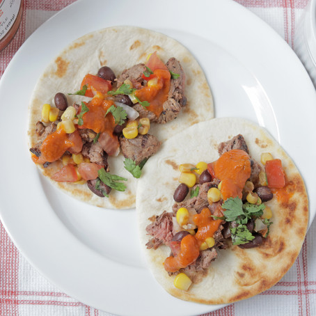 steak Tacos with Mustketch Marinade