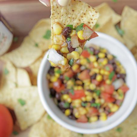 Mustketch corn and black bean salsa
