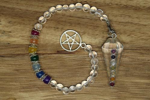 Pendule / pendentif / bracelet 7 chakras