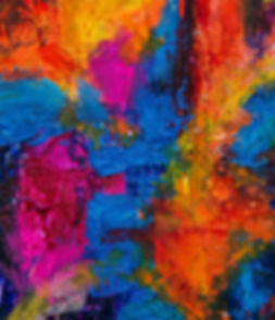 Multicolored abstract pain on canvas texture