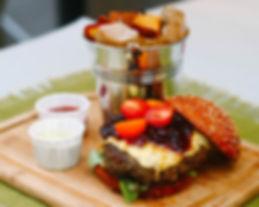 Gluten-Free 8oz homemade Venison Beef Burger