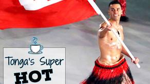 Tonga's Super HOT Shirtless Flag Bearer