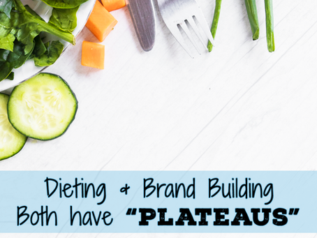 "Dieting & Brand Building – Both have ""Plateaus"""