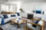 lounge, sofa, navy, Rug Collection, coffee table