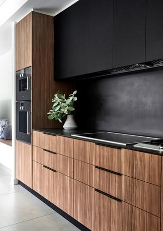 Kitchen cooktop, splashback and cabinetry, Glebe