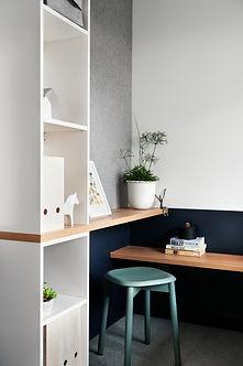 custom joinery, youth bedrom, modern desk, worktop