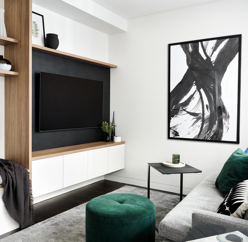 Cosy living room, modern terrace