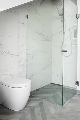 Large format porcelain wall tile minimises grout lines