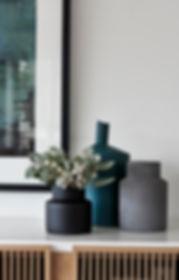 Vases, decor, vignette, teal