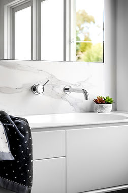 Wall mounted taps keep surfaces cleaner