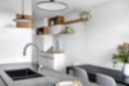 modern living space, compact home, Caesarstone