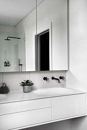 Ensuite bathroom, shaving cabinet, tapware
