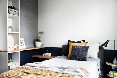 modern bedroom, neutral tones, teenage bedroom, custom joinery, comfortable