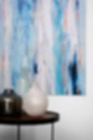 Custom wall art, side table, home decor