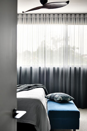 sheer curtains, luxe finishes, soft furnishings, master suite