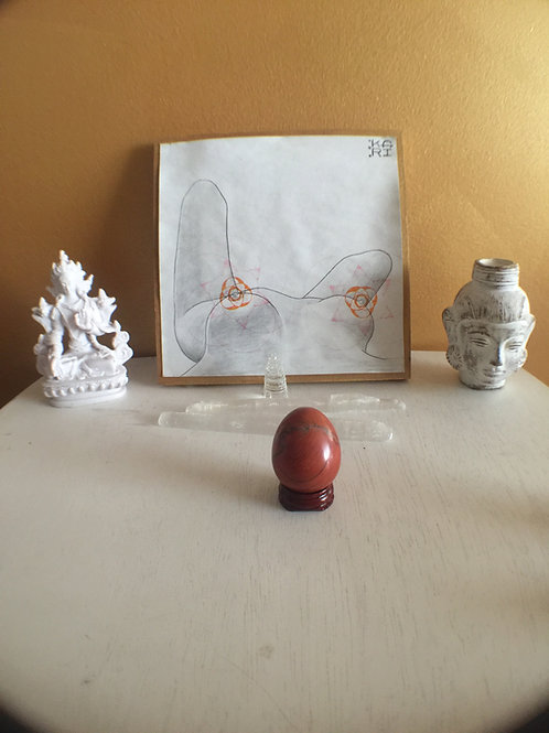 Red Jasper Yoni Egg