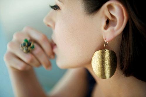 Circle Shield Earrings
