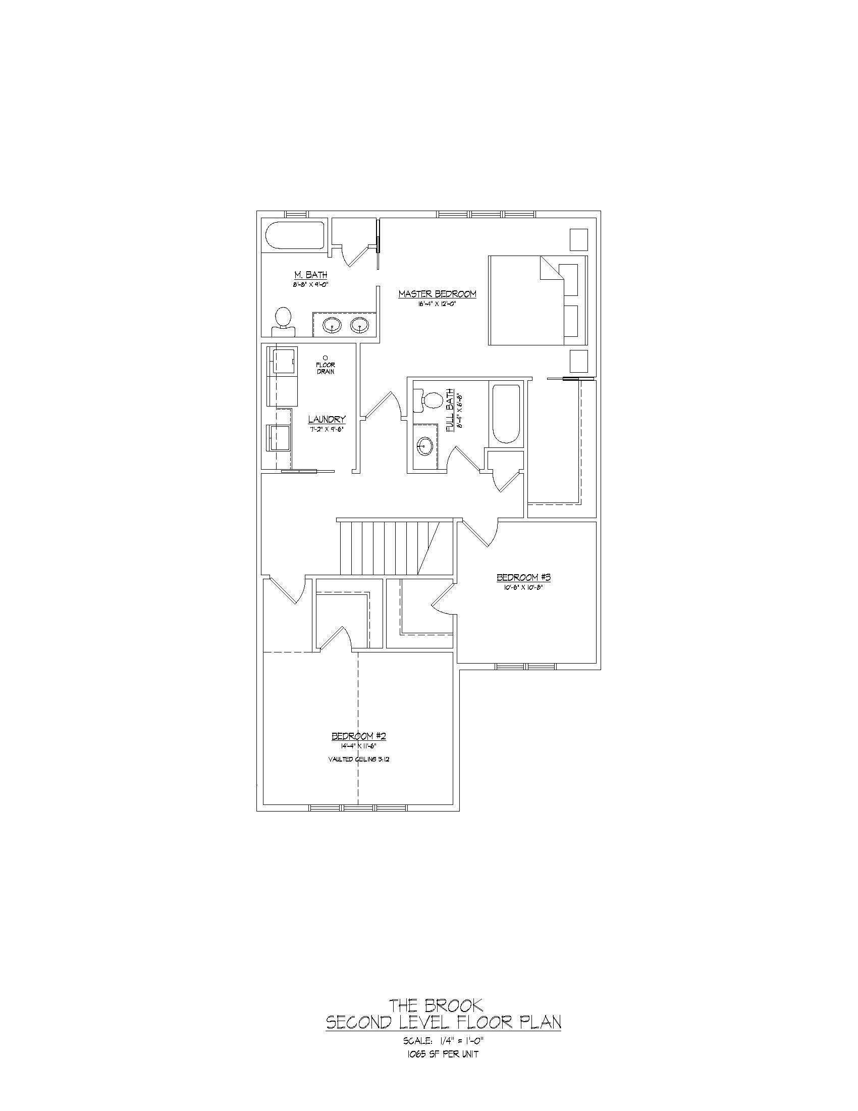 Brook  |  Second Floor  |  1065 sqft