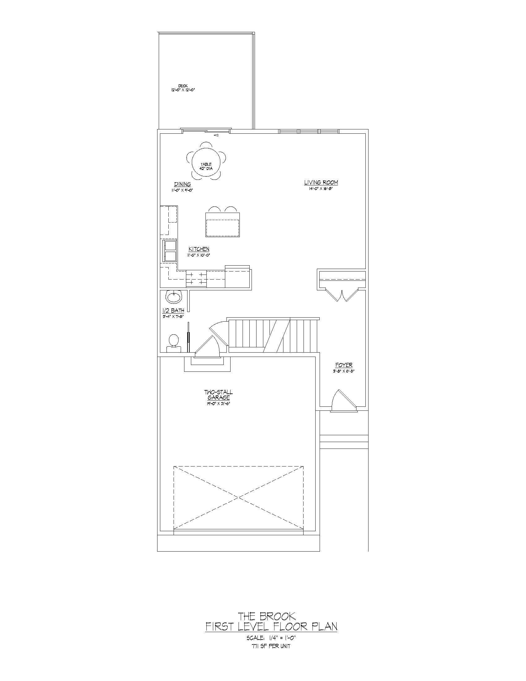 Brook  |  First Floor  |  797 sqft