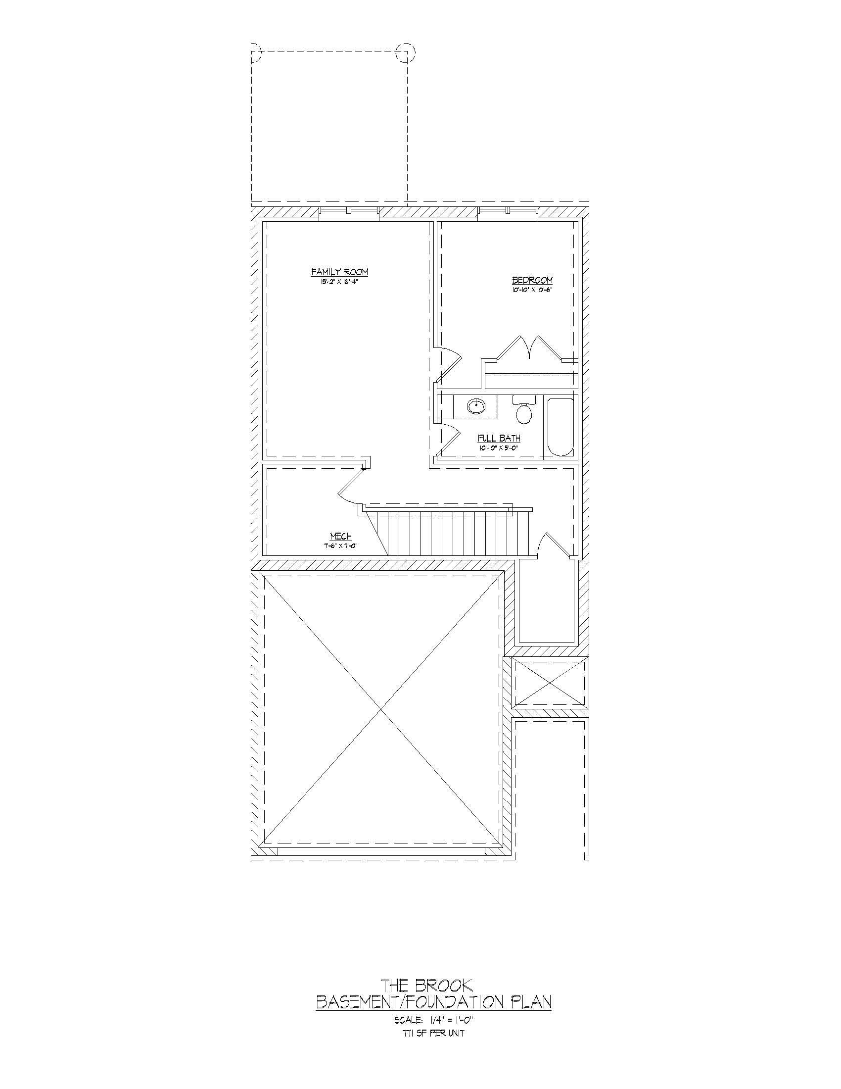 Brook  | Basement  |  797 sqft
