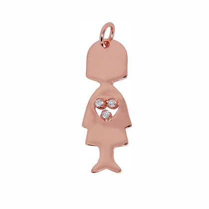 Mommy Pendant - Rose Gold / Sterling Silver