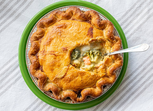 "9"" Broccoli Cheddar Pot Pie (Vegetarian)"