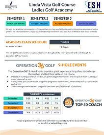 Linda Vista 2021 Ladies Academy Tuition