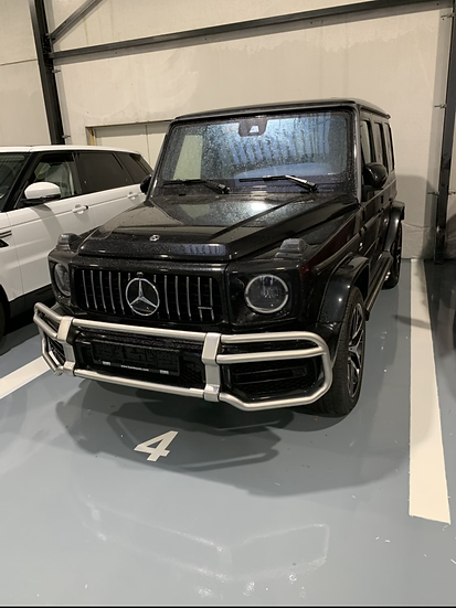 G63 AMG 2019 black / Brown leather