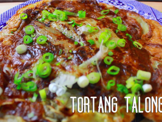 Tortang Talong - Aubergine Omelette with fish and coconut oil