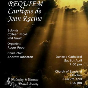 Pitlochry Choral Society Concert in aid of Corbenic