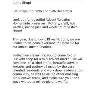 Advent Market at the Corbenic Shop, Dunkeld