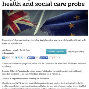 Article on the effect of Brexit on the Care Sector