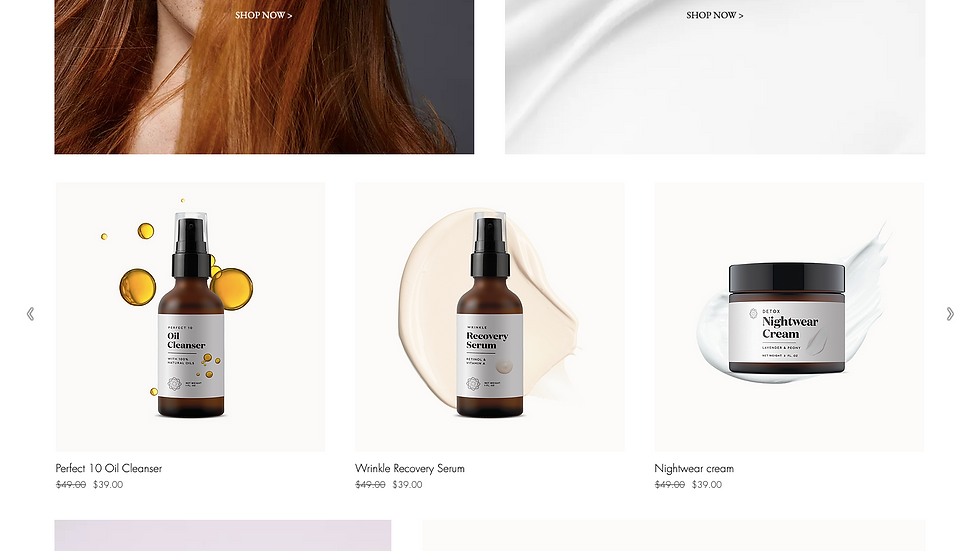 Beauty Design Wix Template