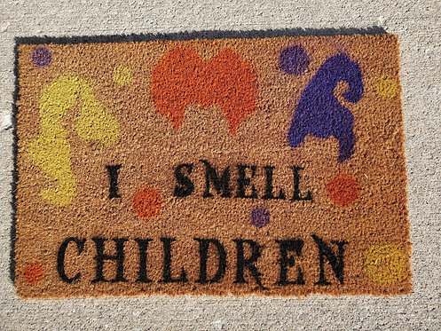 I SMELL CHILDREN COIR DOORMAT