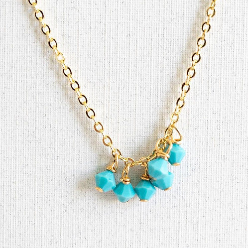 Petite turquoise charm Necklace